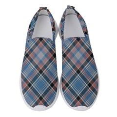 Tartan Scotland Seamless Plaid Pattern Vintage Check Color Square Geometric Texture Women s Slip On Sneakers