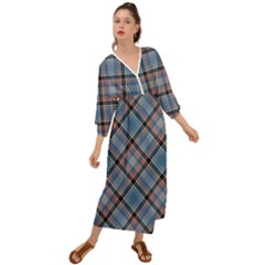 Tartan Scotland Seamless Plaid Pattern Vintage Check Color Square Geometric Texture Grecian Style  Maxi Dress