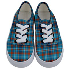 Tartan Scotland Seamless Plaid Pattern Vintage Check Color Square Geometric Texture Kids  Classic Low Top Sneakers