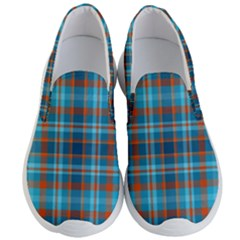 Tartan Scotland Seamless Plaid Pattern Vintage Check Color Square Geometric Texture Men s Lightweight Slip Ons