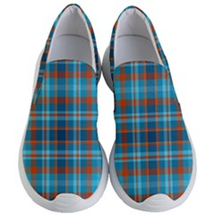 Tartan Scotland Seamless Plaid Pattern Vintage Check Color Square Geometric Texture Women s Lightweight Slip Ons
