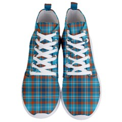 Tartan Scotland Seamless Plaid Pattern Vintage Check Color Square Geometric Texture Men s Lightweight High Top Sneakers