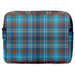 Tartan Scotland Seamless Plaid Pattern Vintage Check Color Square Geometric Texture Make Up Pouch (large)