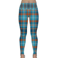 Tartan Scotland Seamless Plaid Pattern Vintage Check Color Square Geometric Texture Lightweight Velour Classic Yoga Leggings