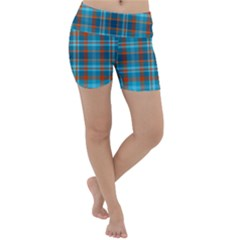 Tartan Scotland Seamless Plaid Pattern Vintage Check Color Square Geometric Texture Lightweight Velour Yoga Shorts