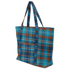Tartan Scotland Seamless Plaid Pattern Vintage Check Color Square Geometric Texture Zip Up Canvas Bag