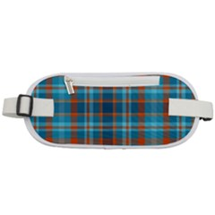 Tartan Scotland Seamless Plaid Pattern Vintage Check Color Square Geometric Texture Rounded Waist Pouch