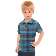 Tartan Scotland Seamless Plaid Pattern Vintage Check Color Square Geometric Texture Kids  Polo Tee