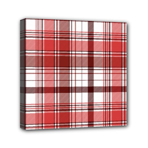 Red Abstract Check Textile Seamless Pattern Mini Canvas 6  X 6  (stretched)