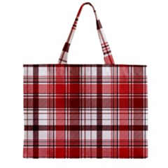 Red Abstract Check Textile Seamless Pattern Mini Tote Bag