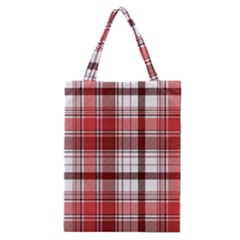 Red Abstract Check Textile Seamless Pattern Classic Tote Bag