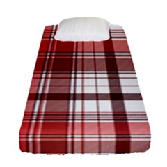 Red Abstract Check Textile Seamless Pattern Fitted Sheet (single Size)