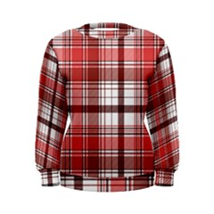 Red Abstract Check Textile Seamless Pattern Women s Sweatshirt