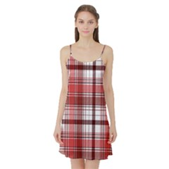 Red Abstract Check Textile Seamless Pattern Satin Night Slip