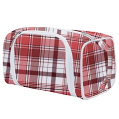 Red Abstract Check Textile Seamless Pattern Toiletries Pouch
