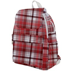 Red Abstract Check Textile Seamless Pattern Top Flap Backpack