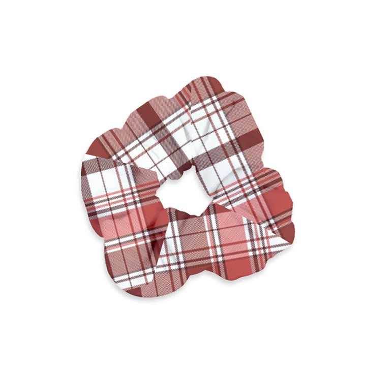 Red Abstract Check Textile Seamless Pattern Velvet Scrunchie