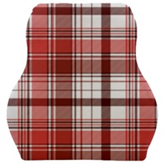 Red Abstract Check Textile Seamless Pattern Car Seat Velour Cushion