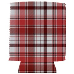 Red Abstract Check Textile Seamless Pattern Can Holder