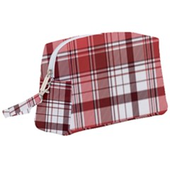 Red Abstract Check Textile Seamless Pattern Wristlet Pouch Bag (large)