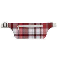 Red Abstract Check Textile Seamless Pattern Active Waist Bag