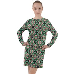Soul Reflection Long Sleeve Hoodie Dress by deformigo