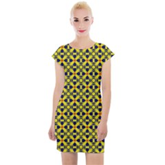 Df Sanhita Manjul Cap Sleeve Bodycon Dress by deformigo