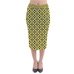 Df Sanhita Manjul Velvet Midi Pencil Skirt by deformigo