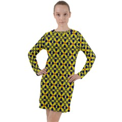 Df Sanhita Manjul Long Sleeve Hoodie Dress by deformigo