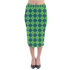Df Pintonido Velvet Midi Pencil Skirt by deformigo