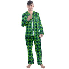 Df Pintonido Men s Satin Pajamas Long Pants Set by deformigo