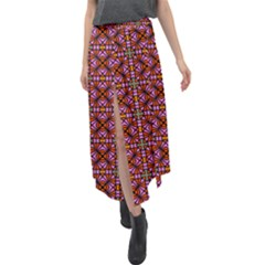 Df Deepilesh Velour Split Maxi Skirt by deformigo