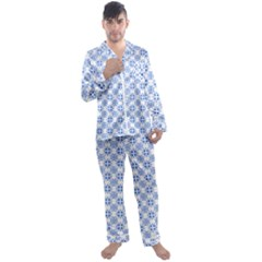 Df Paul Shineter Men s Satin Pajamas Long Pants Set by deformigo