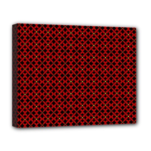 Df Pointsettia Deluxe Canvas 20  X 16  (stretched)