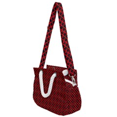Df Pointsettia Rope Handles Shoulder Strap Bag by deformigo