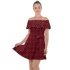 Df Pointsettia Off Shoulder Velour Dress by deformigo