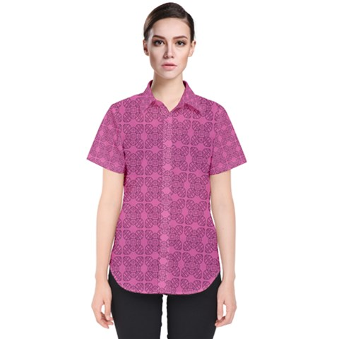 Df Calliandra Women s Short Sleeve Shirt by deformigo