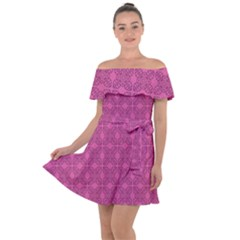 Df Calliandra Off Shoulder Velour Dress by deformigo
