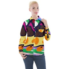 Mushroom,s Life Spin 1 2 Women s Long Sleeve Pocket Shirt