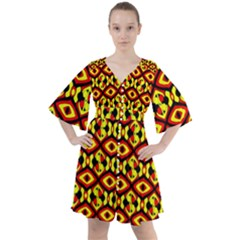 Rby C 1 2 Boho Button Up Dress