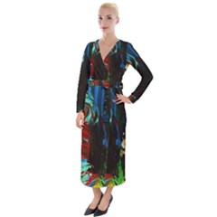 Night 1 2 Velvet Maxi Wrap Dress by bestdesignintheworld
