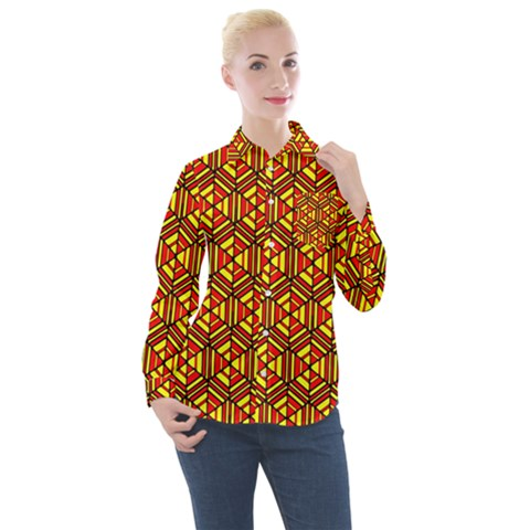 Rby-c-1-4 Women s Long Sleeve Pocket Shirt by ArtworkByPatrick