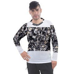 Marble Texture Men s Pique Long Sleeve Tee