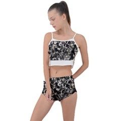 Marble Texture Summer Cropped Co Ord Set