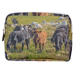 Cows At Countryside, Maldonado Department, Uruguay Make Up Pouch (medium) by dflcprints