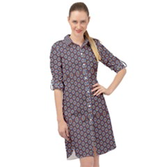 Grappa Long Sleeve Mini Shirt Dress by deformigo