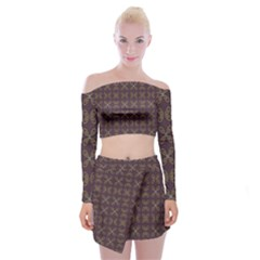 Malfa Off Shoulder Top With Mini Skirt Set by deformigo