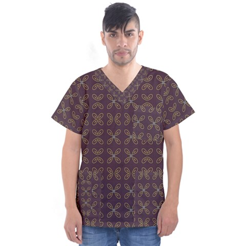 Malfa Men s V Neck Scrub Top by deformigo