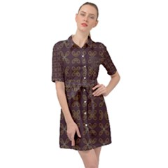 Malfa Belted Shirt Dress by deformigo