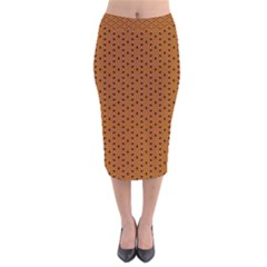 Saravena Velvet Midi Pencil Skirt by deformigo